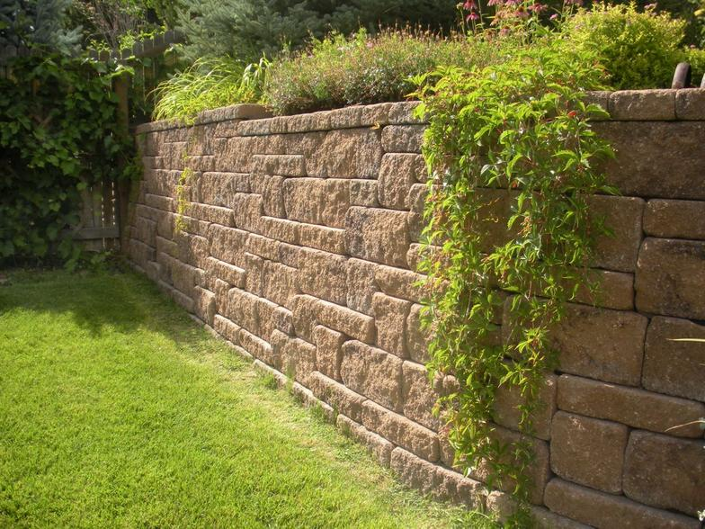 Retaining Wall Block Measurements : Allan block retaining wall dimensions